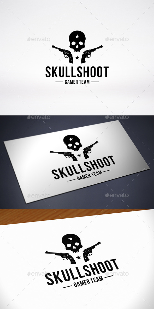 GraphicRiver Skull Game Team Logo Template 10402024