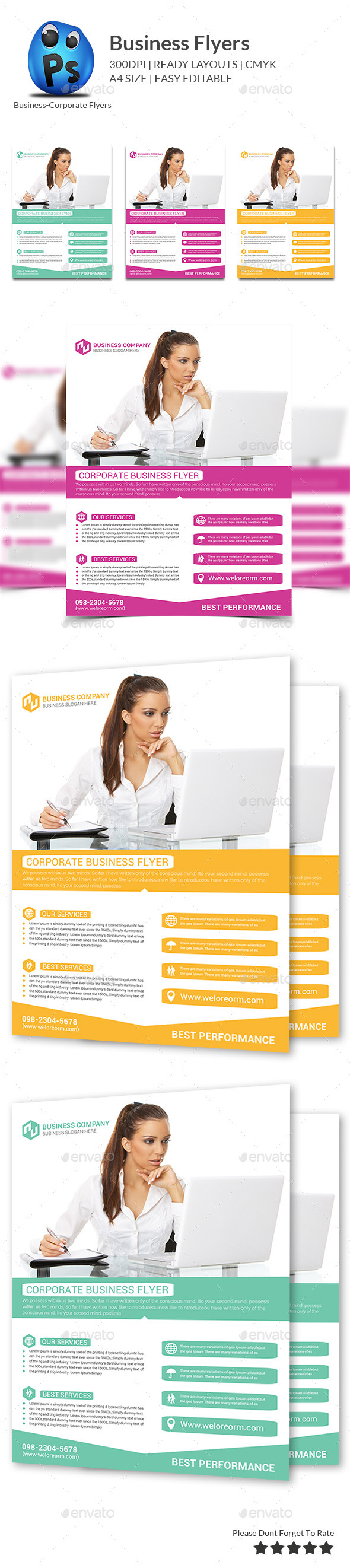 GraphicRiver Best Business Flyers Templates 10402113
