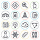 Search Engine Optimization Line Icons  - GraphicRiver Item for Sale