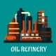 Oil Refinery Factory in Flat Style - GraphicRiver Item for Sale