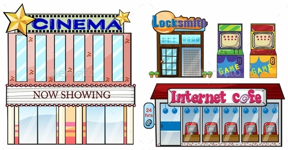 GraphicRiver Set of Shops 10402340