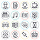 Social Media Line Icons - GraphicRiver Item for Sale