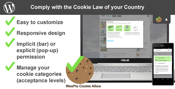 CodeCanyon WeePie Cookie Allow EU Cookie Law Compliance Plugin 10342528