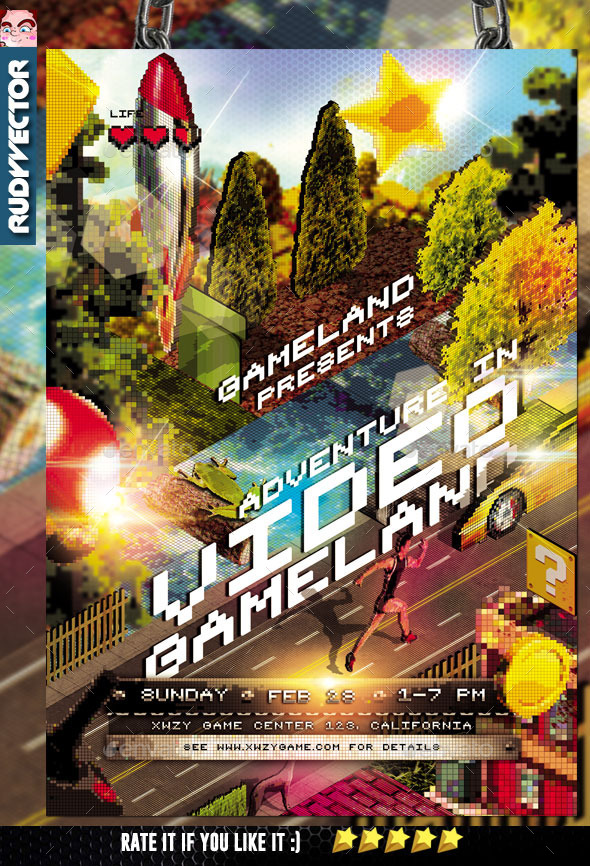 GraphicRiver Isometric Video Game Event Flyer 10402760