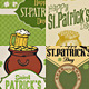 St. Patrick's Day Card Backgrounds - GraphicRiver Item for Sale