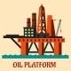 Cartoon Sea Oil Platform - GraphicRiver Item for Sale