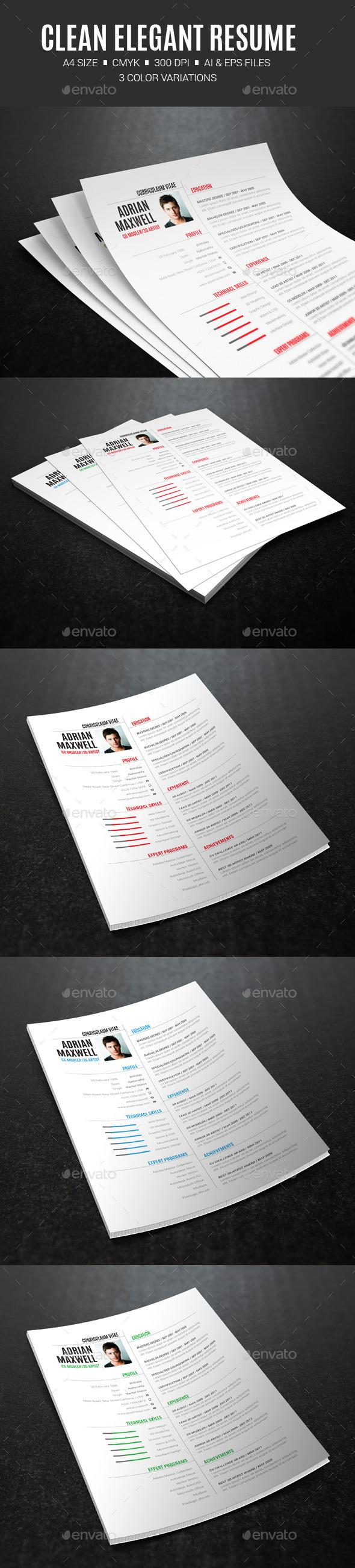 GraphicRiver Clean Elegant Resume 10402869