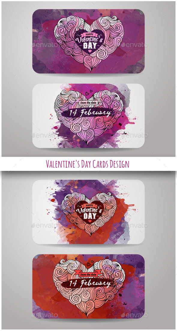 GraphicRiver Valentine s Day Cards Design 10402983