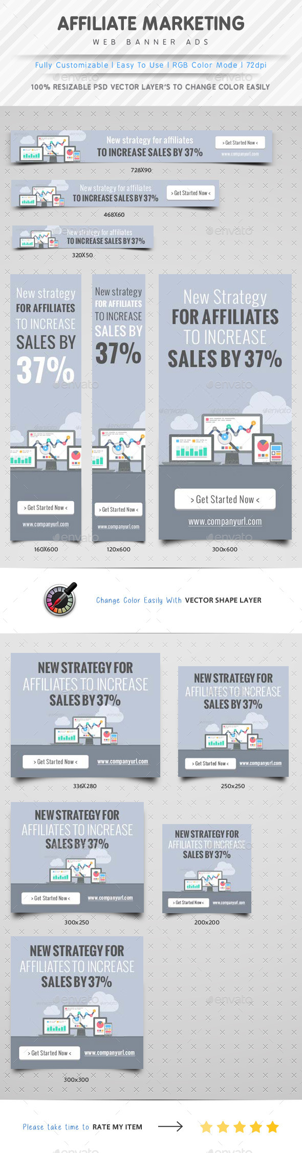 GraphicRiver Affiliate Marketing Web Banner Ads 10402987
