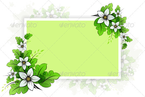 Frame with Flowers - Flowers & Plants Nature