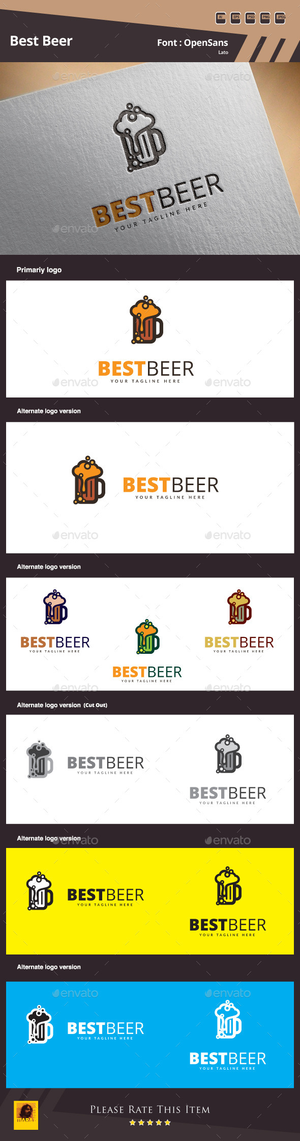 GraphicRiver Best Beer Logo Template 10403170