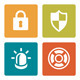 Iconset - Vibrant square - Security - GraphicRiver Item for Sale