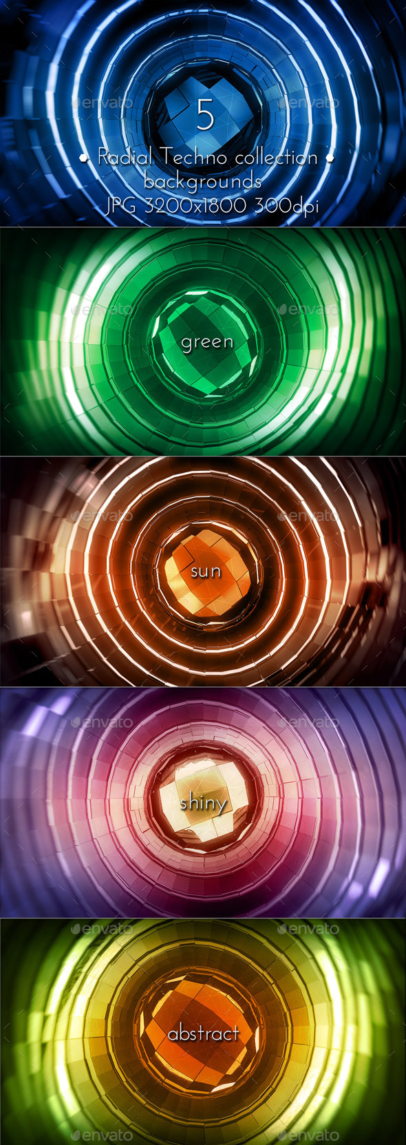 GraphicRiver Radial Techno Glowing 10403846