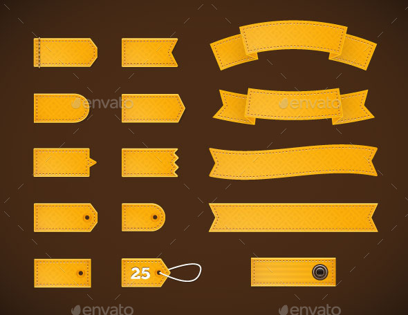 GraphicRiver Golden Price Tags Labels and Ribbons 10379770