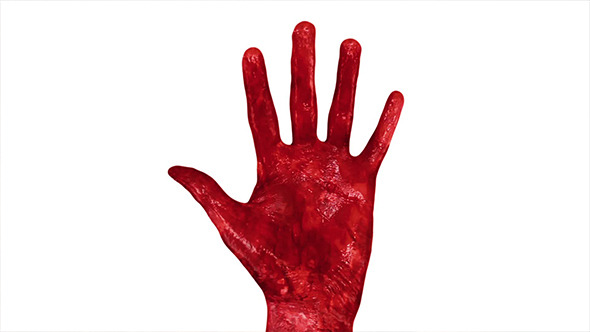 Bloody Red Hand In Fire