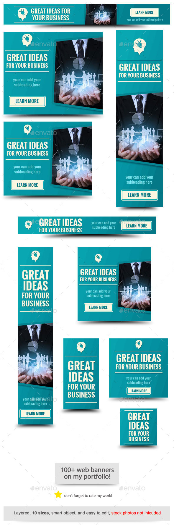 GraphicRiver Great Ideas Web Banner Template 10404543