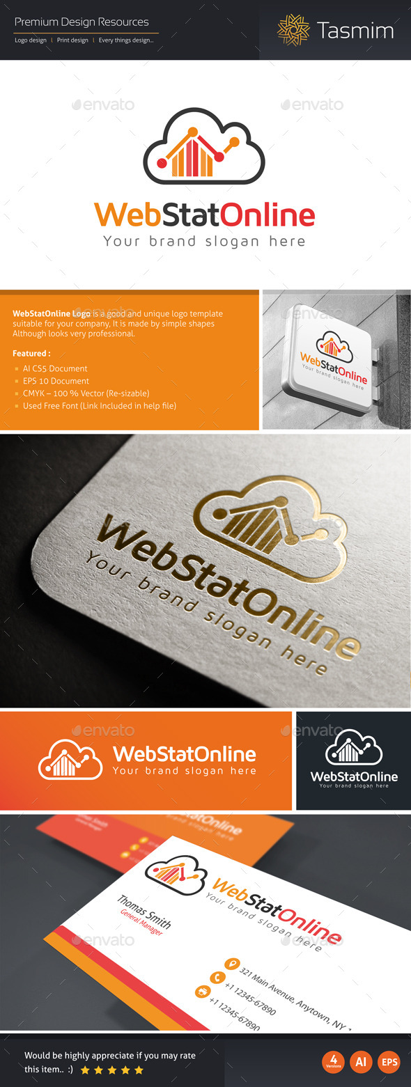 GraphicRiver WebStatOnline Logo Template 10405237