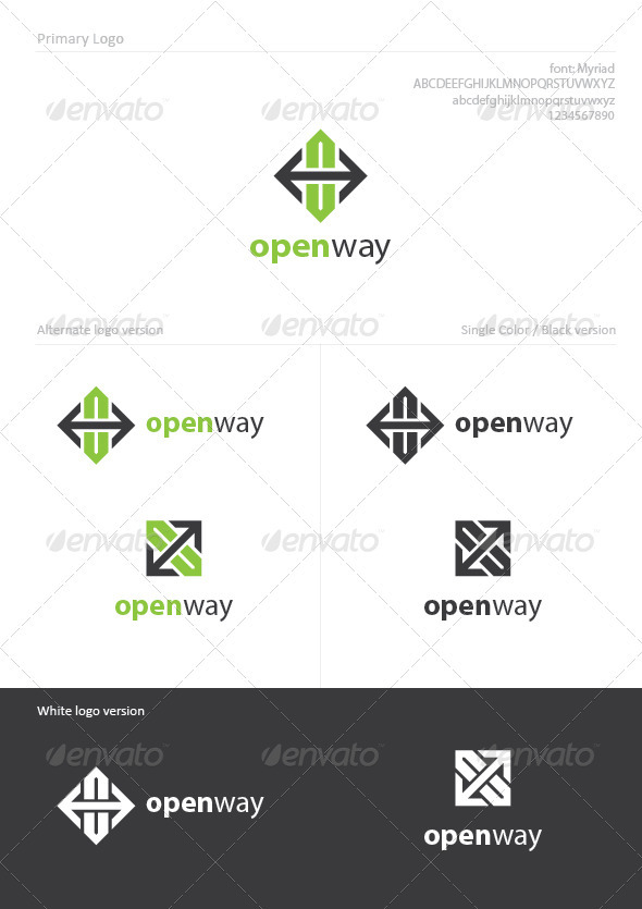 Open Way - Symbols Logo Templates