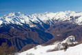 monte rosa glacier from mottarone bright sunny day - PhotoDune Item for Sale