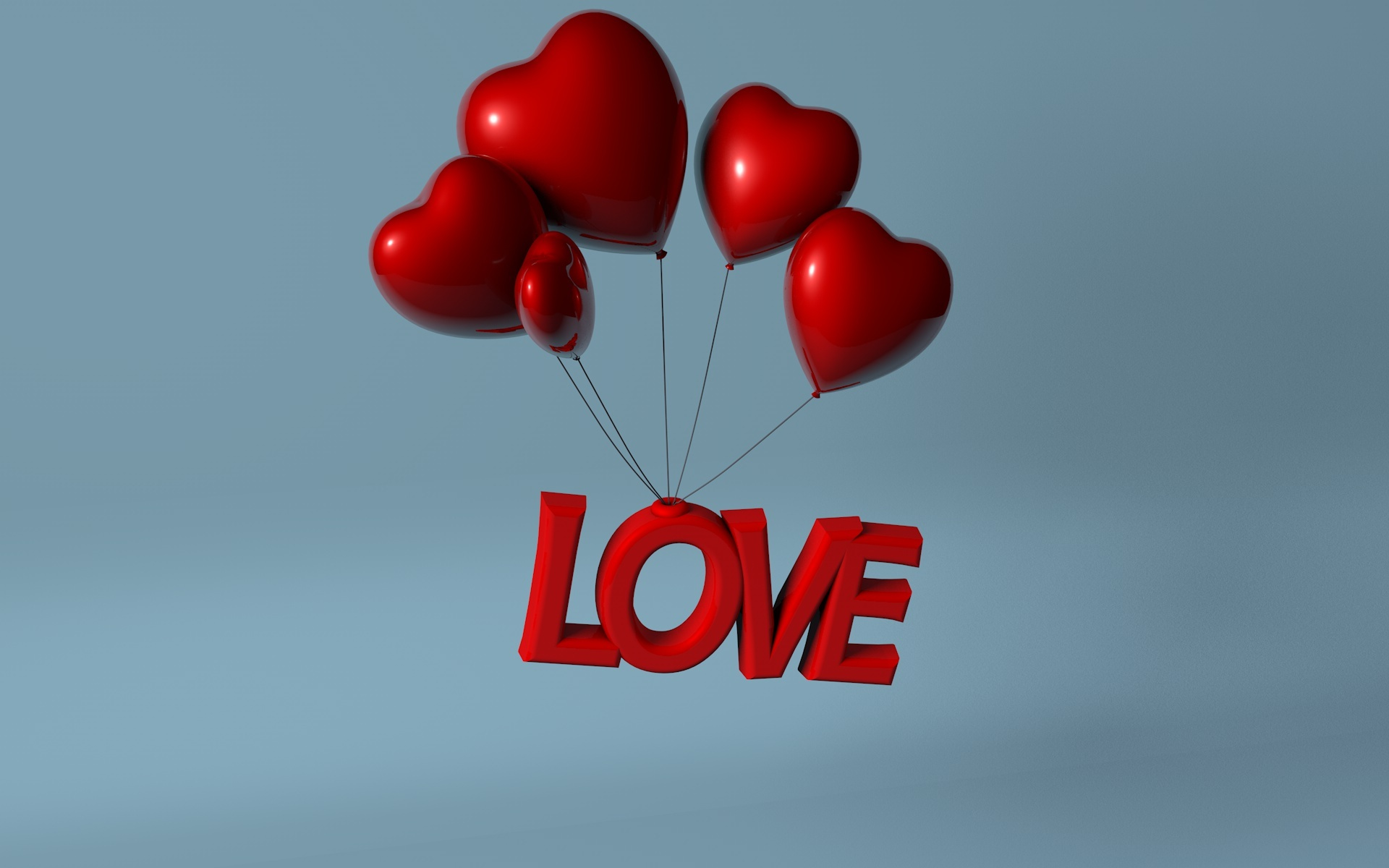 3D Love Heart Balloon By Aqelpro