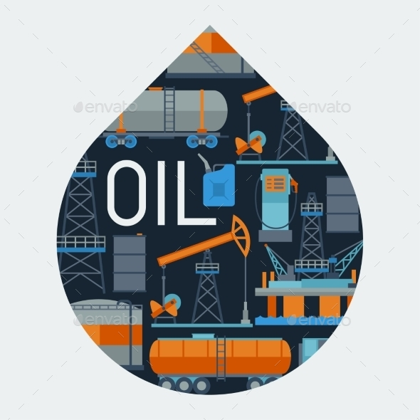 GraphicRiver Industrial Background Design with Oil 10405855