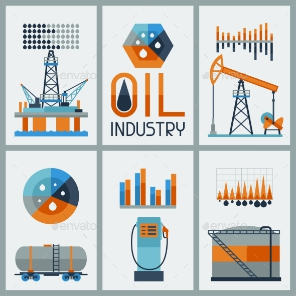 GraphicRiver Industrial Infographic Design with Oil 10405869