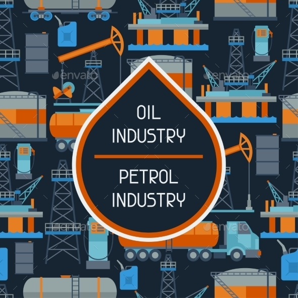 GraphicRiver Industrial Seamless Pattern with Oil 10405891