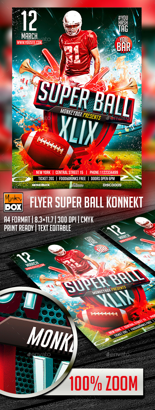 GraphicRiver Flyer Super Ball Konnekt 10405937