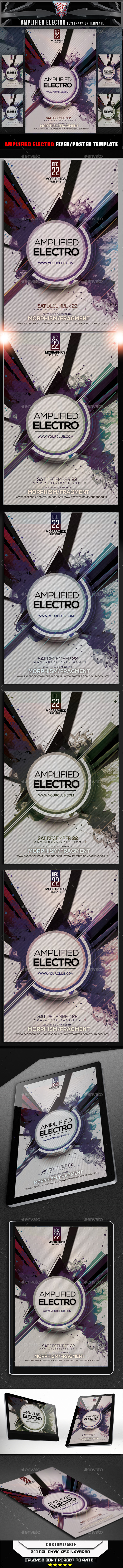 GraphicRiver Amplified Electro Flyer Template 10406236