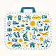 Travel Holiday Suitcase - GraphicRiver Item for Sale