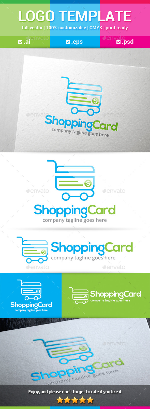GraphicRiver Shopping Card Logo 10406467