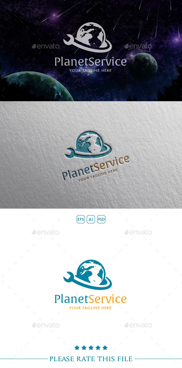 GraphicRiver Planet Repair Logo 10406507