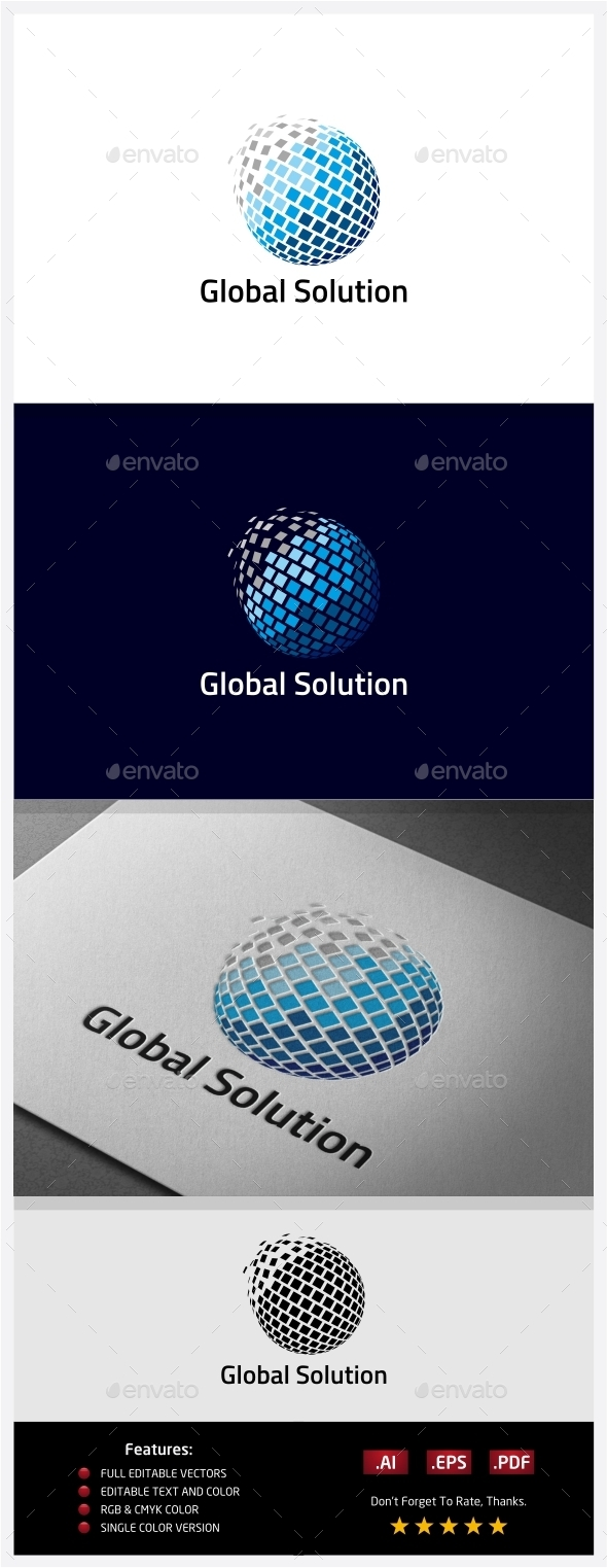 GraphicRiver Global Solution Logo 10406525