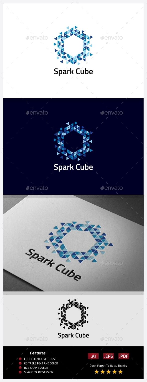 GraphicRiver Spark Cube Logo 10406536