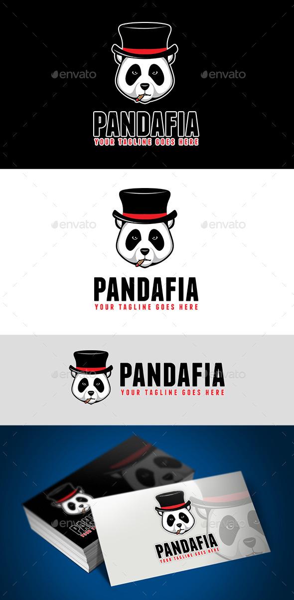 GraphicRiver Panda Mafia Logo 10367804