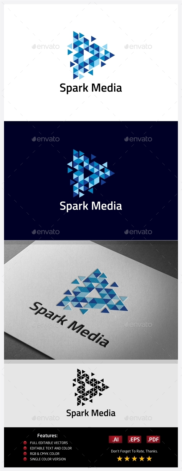 GraphicRiver Spark Media Logo 10406553