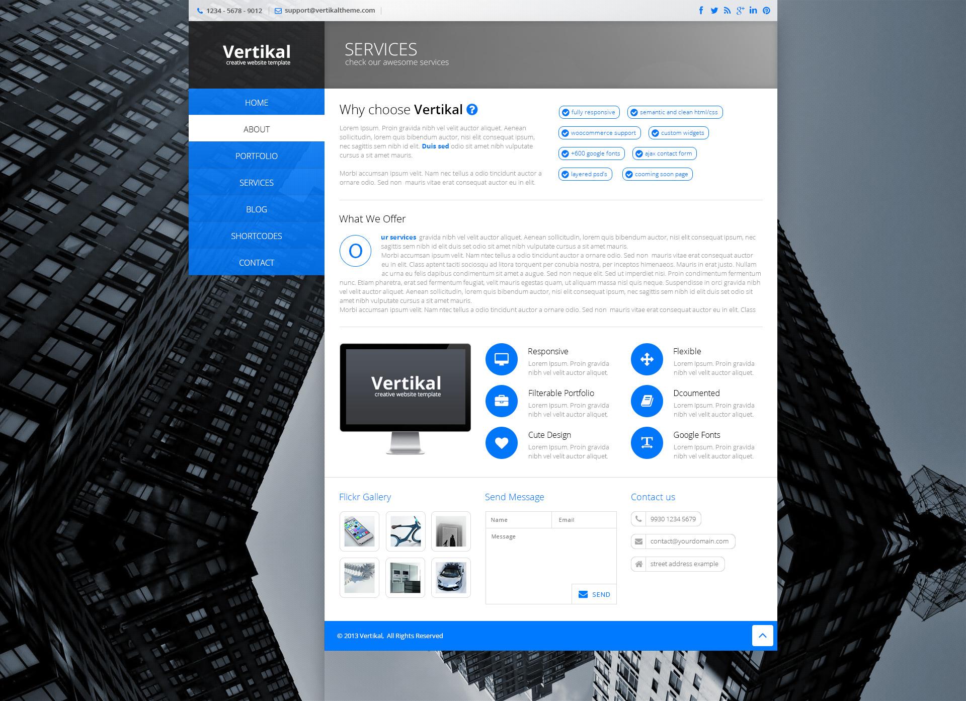 Vertikal   Responsive WordPress Theme