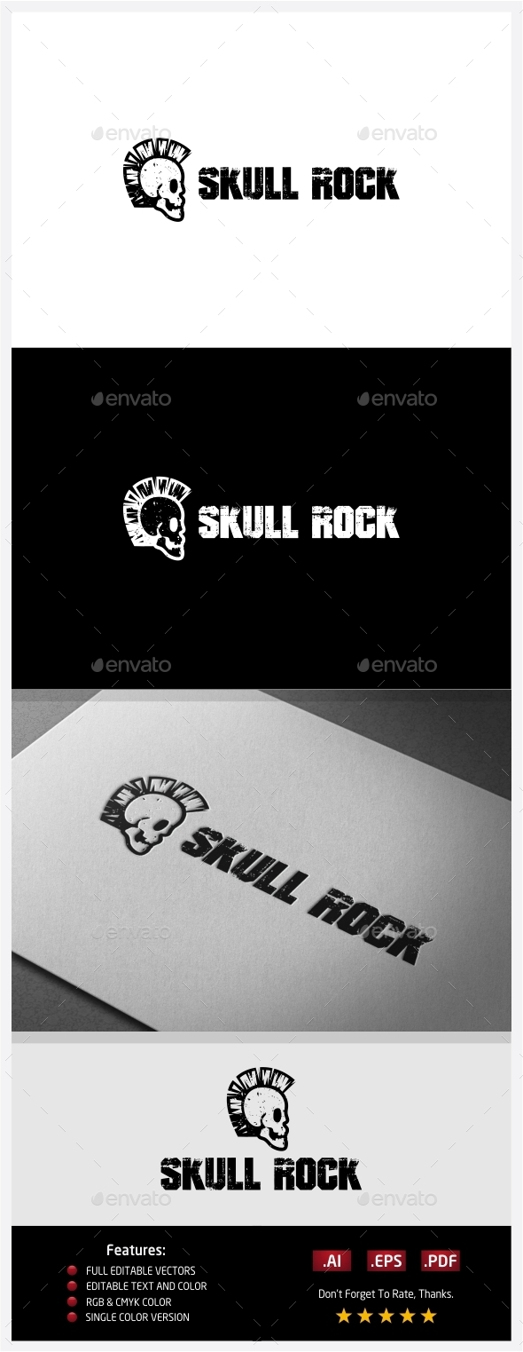 GraphicRiver Skull Rocker Logo 10406594
