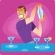 Bartender Prepares a Cocktail - GraphicRiver Item for Sale