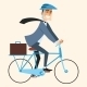 Businessman Going to Work in the Office by Bike - GraphicRiver Item for Sale
