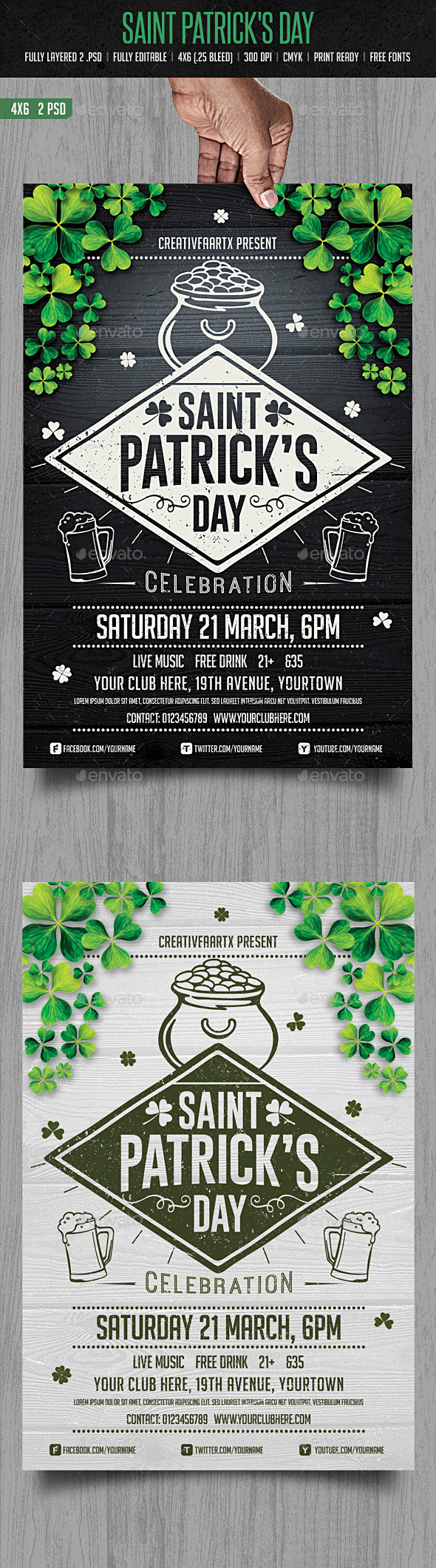 GraphicRiver St Patrick s Day Flyer 10406702