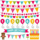Kid Birthday Party Decoration Set - GraphicRiver Item for Sale