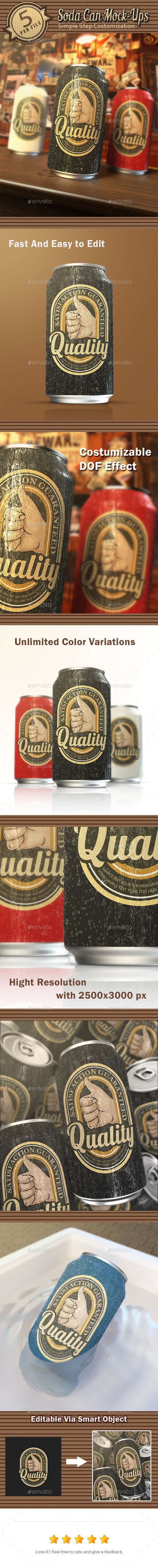 Soda Can Mock-Ups