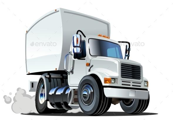 GraphicRiver Cartoon Delivery Cargo Truck 10406867