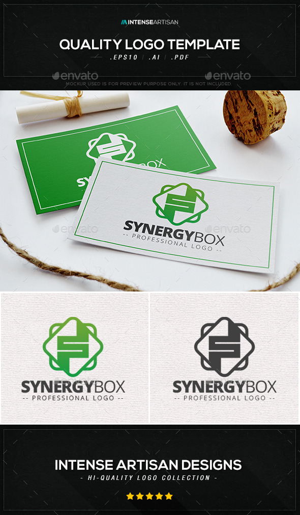 GraphicRiver Synergy Box Logo Template 10406891