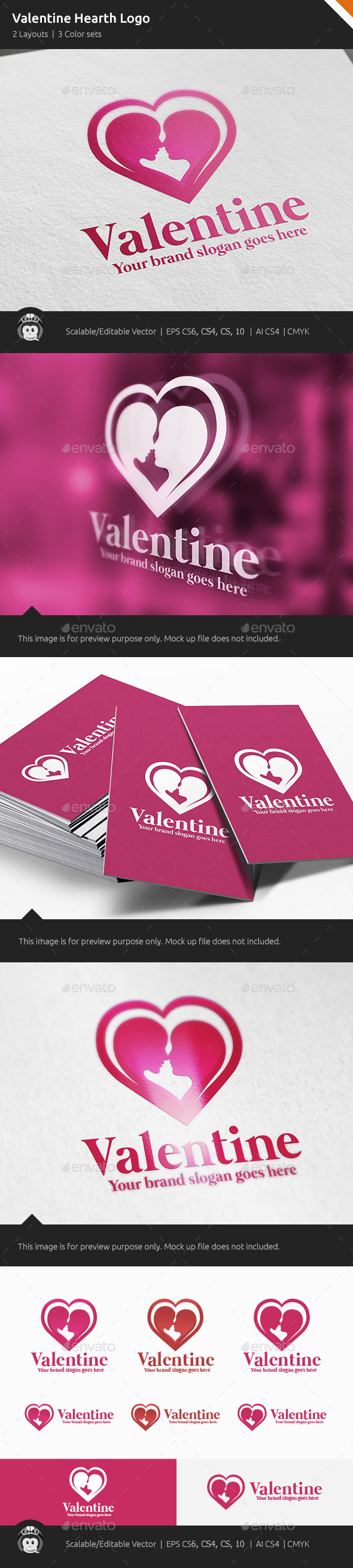 GraphicRiver Valentine Hearth Logo 10407573