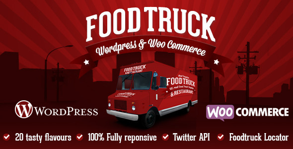 Download Food Truck & Restaurant 20 Styles - WP Theme nulled download
