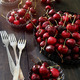 Fresh cherries in aluminum plates - PhotoDune Item for Sale