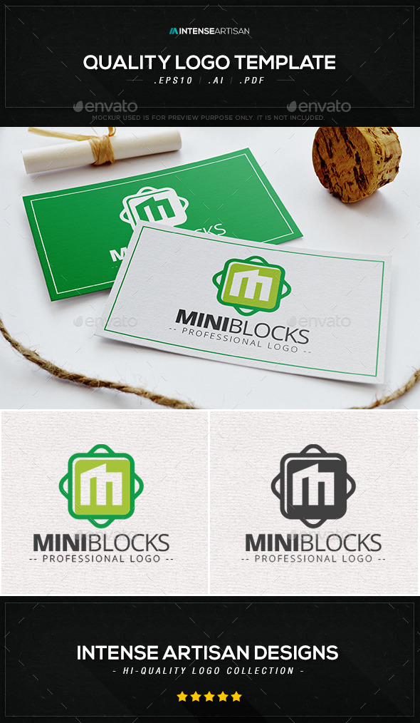 GraphicRiver Mini Blocks Logo Template 10408179