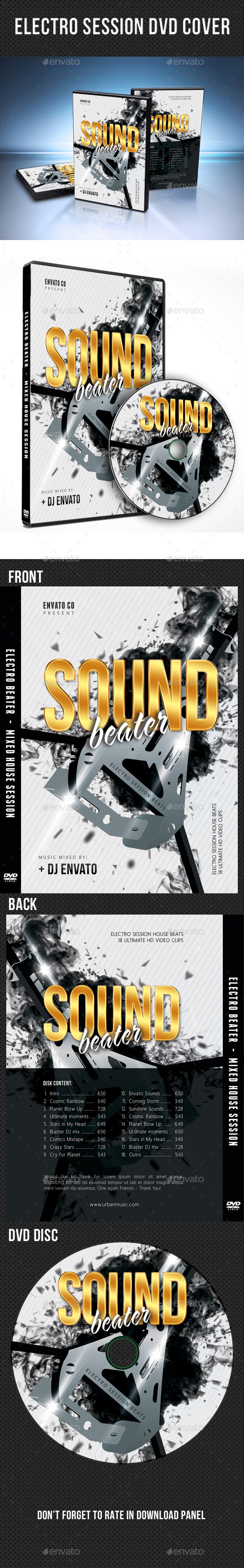 Electro Session DVD Cover Template V03